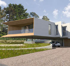 Cliff top House, Kent. Working in collaboration with Hawkes Architecture and Hughes Planning